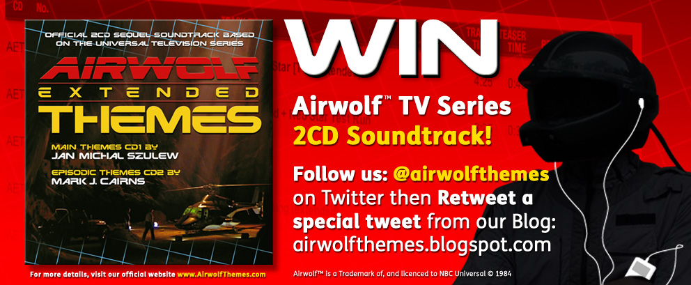WIN Airwolf music soundtrack 2CD album via retweet on Twitter