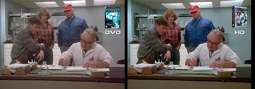 AIRWOLF S2 Prisoner of Yesterday Airwolf DVD to HD Bluray Comparison