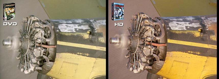 AIRWOLF S2 The American Dream Airwolf DVD to HD Bluray Comparison