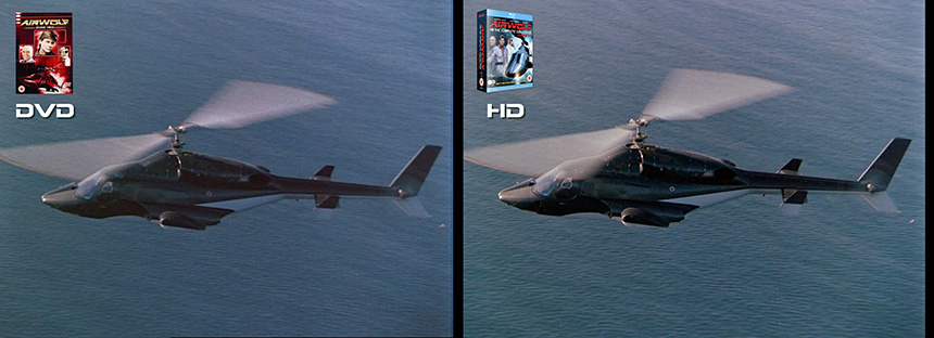 AIRWOLF S3 Discovery Airwolf DVD to HD Bluray Comparison