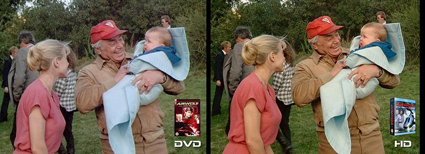 AIRWOLF S3 Little Wolf Airwolf DVD to HD Bluray Comparison