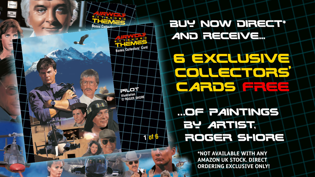 Roger Shore Airwolf Paintings Collector Cards