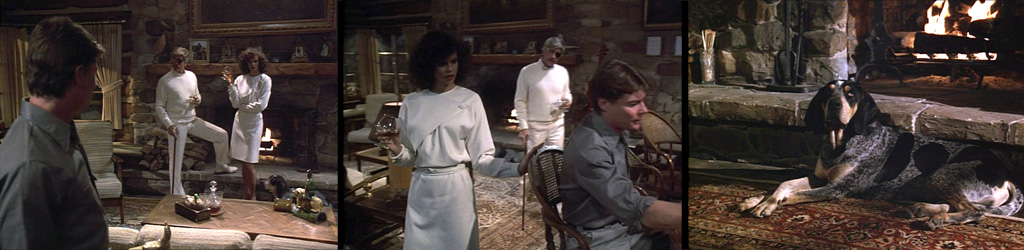 Airwolf ECHOS FROM THE PAST 1st Season episode with JAN-MICHAEL VINCENT, DEBORAH PRATT and ALEX CORD at Hawke's Cabin