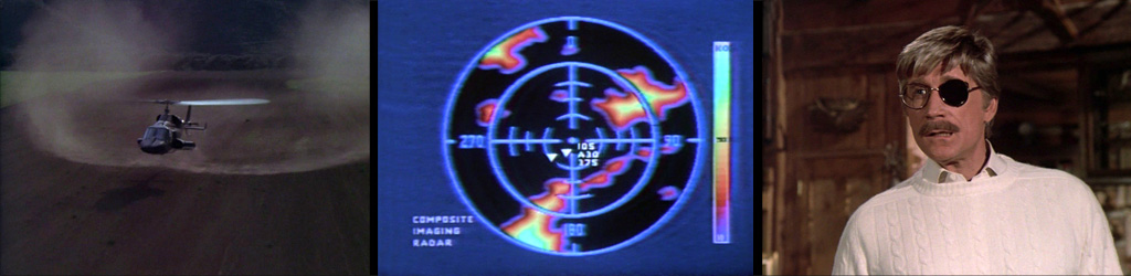Airwolf 2nd Unit Director and stunt pilot DAVID JONES created vortices with Airwolf on film